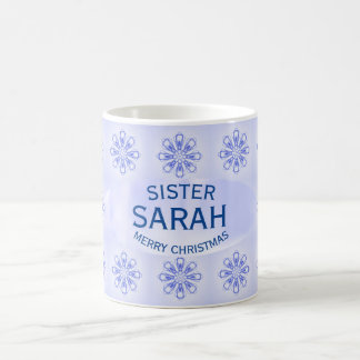 Christmas Sister Blue Snowflake Mug by Janz