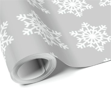 Disney Themed Christmas Siver Snowflake Wrapping Paper