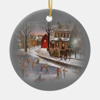 Christmas Skating Ornament
