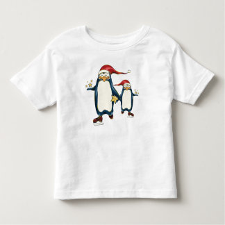 Christmas Skating Penguins Toddler T-shirt