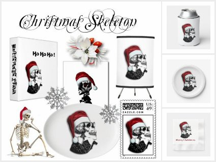 Christmas Skeleton Celebration Party