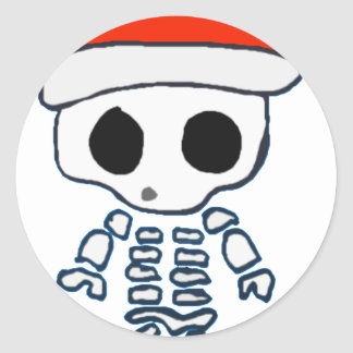 Christmas Skelly Sticker
