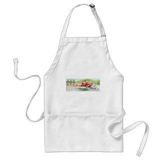 Christmas Skiing Santa Snowmobile Ski Apron