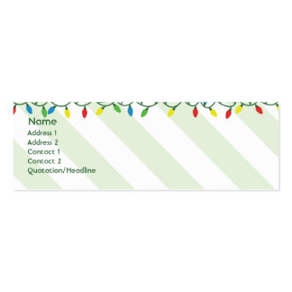 Christmas - Skinny Double-Sided Mini Business Cards (Pack Of 20)