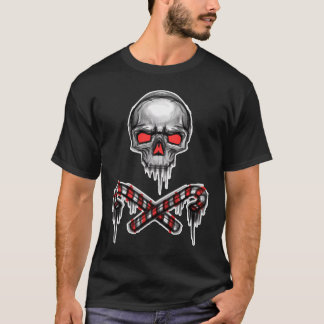 Christmas Skull and Crossed Canes T-Shirt