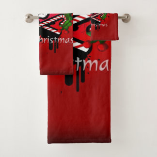 Christmas skull bath towel set