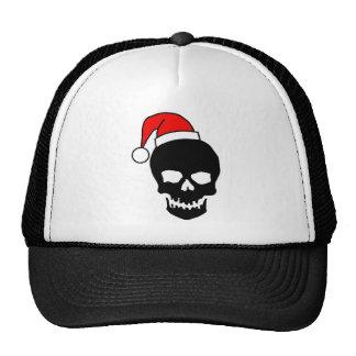 Christmas Skull Black Trucker Hat