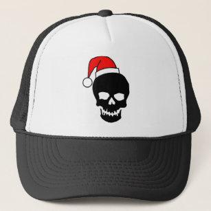 Christmas Skull Black Trucker Hat c009a1828a0