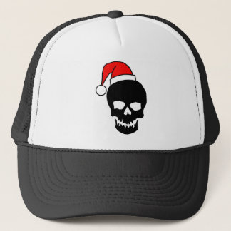 Christmas Skull Black Trucker Hat