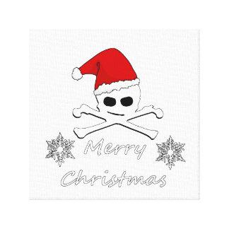 Christmas Skull Canvas Print