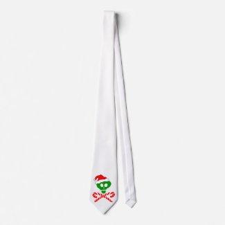 Christmas Skull Crossbones tie