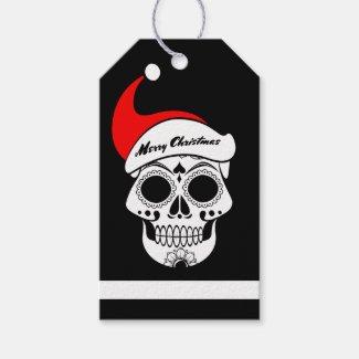 Christmas Skull Gift Tags