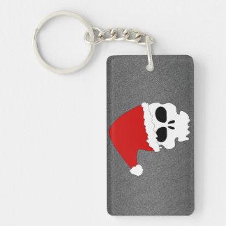 Christmas Skull Rectangular Acrylic Key Chains