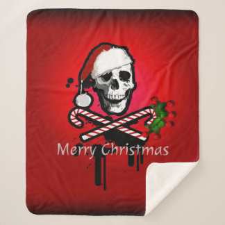 Christmas skull sherpa blanket