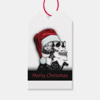 Christmas Skull To and From Streamers Gift Tags
