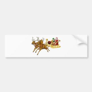 Christmas sled bumper sticker