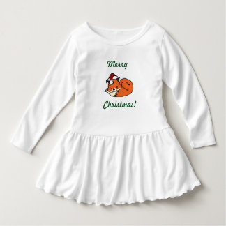 Christmas Sleeping Fox Dress