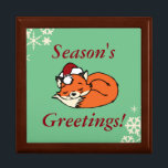 "Christmas Sleeping Fox Keepsake Box<br><div class=""desc"">Great for the holidays!</div>"