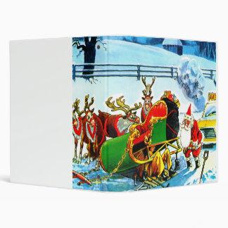 Christmas sleigh and reindeer binder