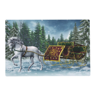Christmas Sleigh Laminated Placemat
