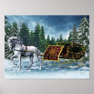 Christmas Sleigh Poster