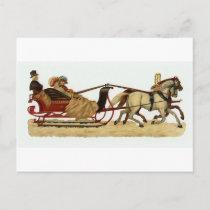 """""""Christmas Sleigh Ride"""" Christmas Postcard"""