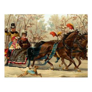 """Christmas Sleigh Ride"" Post Cards"