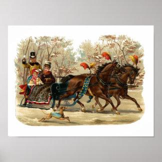 """Christmas Sleigh Ride"" Posters"