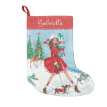 Christmas Sleigh Shopping Girl | Cristmas Stocking