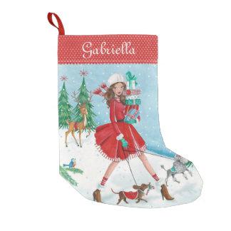 Christmas Sleigh Shopping Girl | Cristmas Stocking