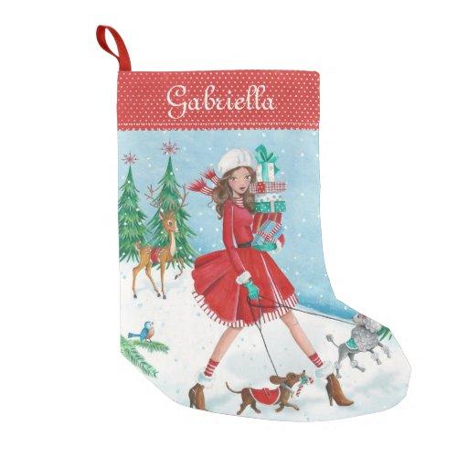Christmas Sleigh Shopping Girl Cristmas...