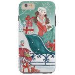 Christmas Sleigh Shopping Girl Iphone 6 plus case