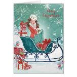Christmas Sleigh Shopping | Holiday Greeting card
