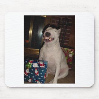 christmas smile bull terrier mousepad