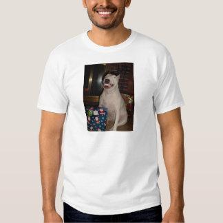 christmas smile bull terrier t-shirt