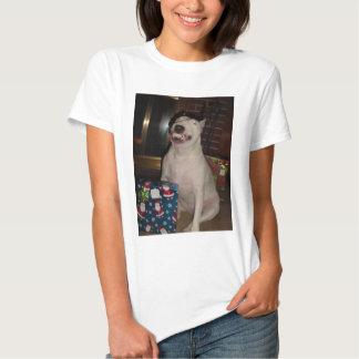 christmas smile bull terrier t shirt