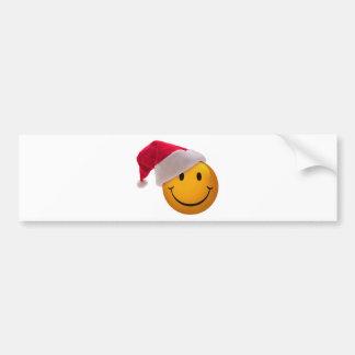 Christmas Smiley Face Bumper Sticker