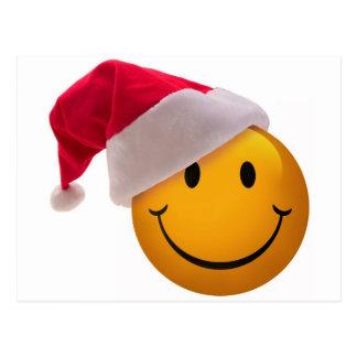 Christmas Smiley Face Postcard