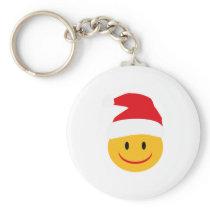 Christmas Smiley Keychain