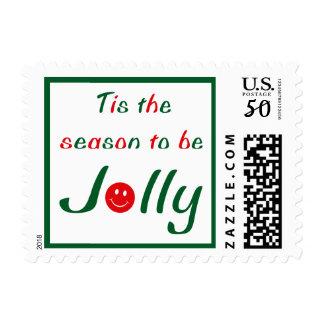Christmas Smiley Postage
