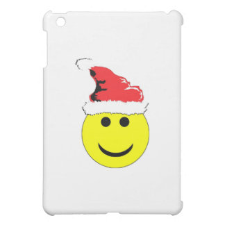 Christmas Smiley With A Santa Hat iPad Mini Cover