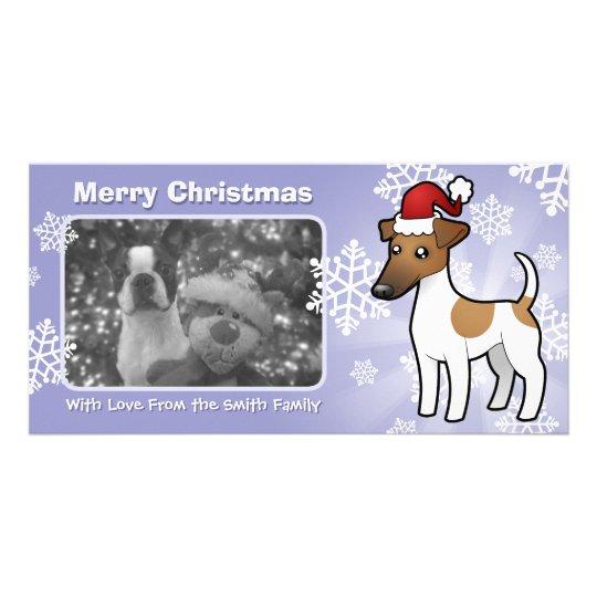 Christmas Smooth Fox Terrier Card