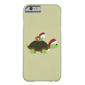 Christmas Snail on a turtle Barely There iPhone 6 Case