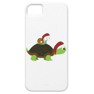 Christmas Snail on a turtle iPhone SE/5/5s Case