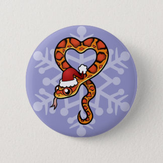 Christmas Snake Button