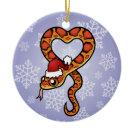 Christmas Snake Christmas Tree Ornaments