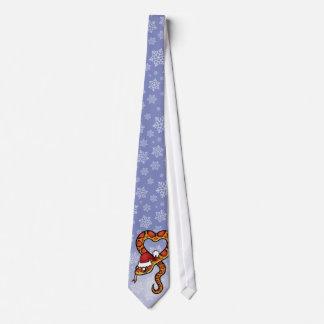 Christmas Snake Tie