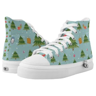 Christmas Sneakers Printed Shoes