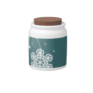 Christmas snow2 candy jars