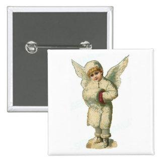 Christmas Snow Angel Button